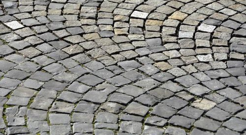 Fancy stonework paving